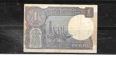 INDIA #78a 1981 VG CIRC OLD RUPEE BANKNOTE PAPER MONEY CURRENCY BILL NOTE