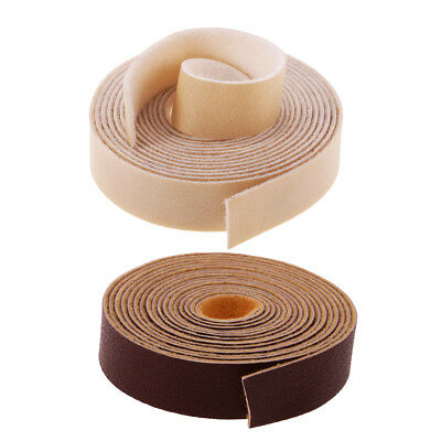 2Pcs 10 Meter x 15mm Leather Strap Strips for Leather Crafts Bag Belt Making