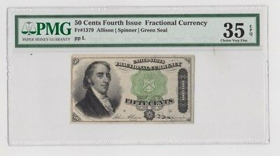 United States 50 Cent 4th Issue Fractional Currency PMG Graded 35 Choice V Fine