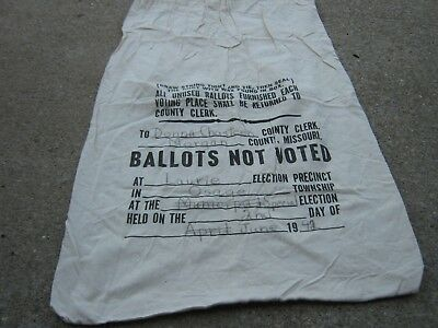 Laurie Osage Morgan 1992 Donna Chasteen Ballots Voted Election sack