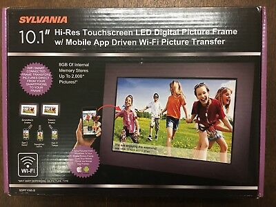 "Sylvania 10.1"" LED Wi-Fi Digital Picture Frame w/ Mobile App Wi-Fi Pic Transfer"