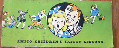 Vtg Amico American Insurance Company Childs Book Safety Lessons Chicago 1940s