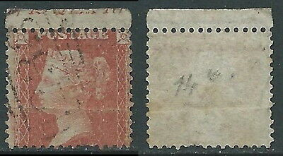 1854-57 GREAT BRITAIN USED PENNY RED BROWN 1d SG2 2 P14 VARIETY