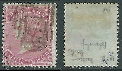 1855-57 GREAT BRITAIN USED SG 62b 4d W15