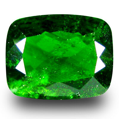 2.91 ct Excellent Cushion Shape (10 x 8 mm) Green Chrome Diopside Loose Gemstone