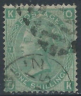 1867-80 GREAT BRITAIN USED SG 117 1s PLATE 7 (OK)