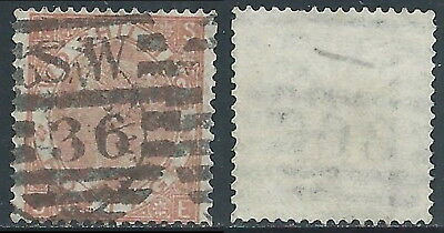 1867-80 GREAT BRITAIN USED SG 121 2s PLATE 1 (SE)
