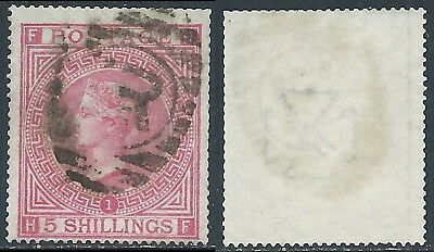 1867-83 GREAT BRITAIN USED SG 127 5s PLATE 1 (HF)