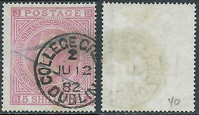 1867-83 GREAT BRITAIN USED SG 127 5s PLATE 2 (BJ)