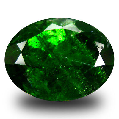 4.54 ct Wonderful Oval (11 x 9 mm) Green Chrome Diopside Natural Loose Gemstone