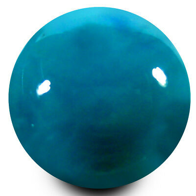 3.47 ct AAA Incredible Round Cabochon (10x10mm) Greenish Blue Turquoise Gemstone