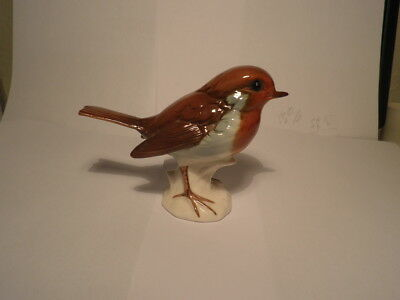 Goebel W German Robin Figure 38 042 09 High Gloss Finish Original Label Pristine