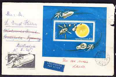 Hungary 1965 Space Research MS First Day Cover to Australia