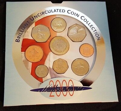 2000, United Kingdom Brilliant Uncirculated Coin Collection, Folder, Royal Mint