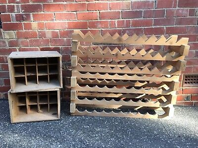 Vintage Timber Wine Racks And Crates