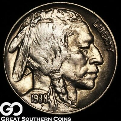1938-D Buffalo Nickel, Solid Gem BU Beauty