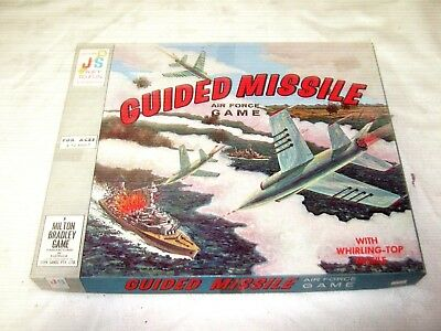A Vintage Early 60's John Sands Milton Bradley Guided Missile Air Force Game