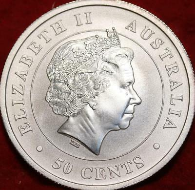 Uncirculated 2014 Australia 50 Cents Silver Great White Shark Coin