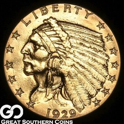 1929 Quarter Eagle, $2.5 Gold Indian ** Free Shipping!
