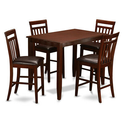 Mahogany Table and 4 Dining Room Chairs 5-piece Dining Set