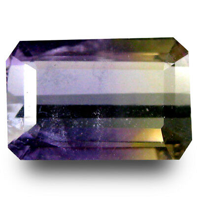 1.65 ct AAA Tremendous Octagon Shape (10 x 6 mm) Purple and Yellow Ametrine