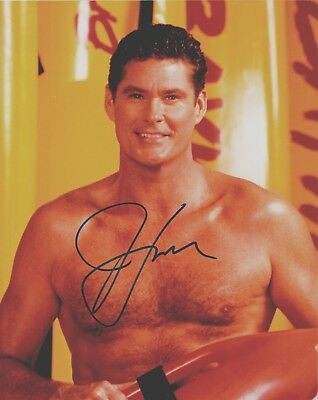 DAVID HASSELHOFF Signed Photo as Mitch in BAYWATCH seen weekly in 140 countries