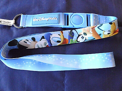 Disney * MICKEY & FRIENDS * New Pin Trading Lanyard / Detachable Section
