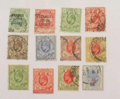 Orange River Colony 1900 - 05 QV and KEd small collection used