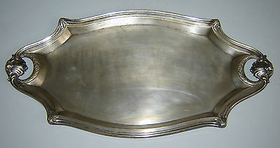 ANTIQUE Old 1910s Vintage Silverplate WMF Art Nouveau  Serving Tray Dated 1929