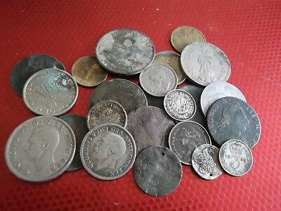 JOB LOT OF METAL DETECTING FINDS WITH SILVER 99p 6251