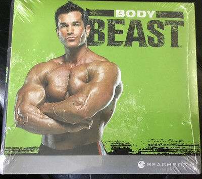 Body Beast Fitness Gym 4 Dvd's Muscle Workout New Sealed Fit Exercise Training