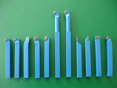 "11Pce-16mm (5/8"") Carbide Tipped Metal Lathe Tool Set"