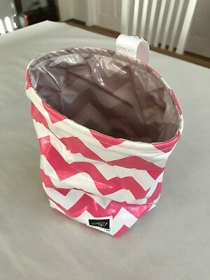 Stampin' Up! Collapsible waste paper bin - Pink, White & Grey