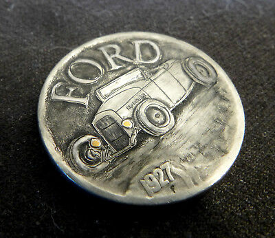 Hobo Nickel 1927 Ford Hot Rod with 24K Gold inlay by tmaher