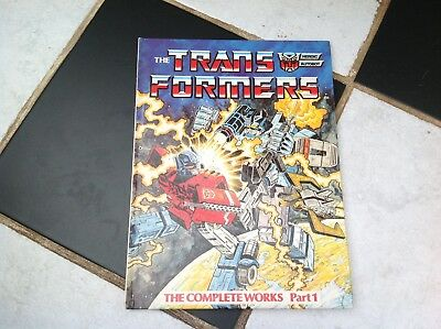 Vintage Original Transformers Cartoon The Complete Works Part 1 Annual Book 1984