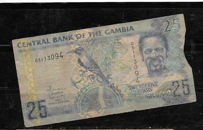 GAMBIA #27a 2006 25 DALASIS  AG CIRC OLD BANKNOTE PAPER MONEY CURRENCY   NOTE