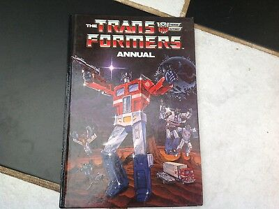 Vintage Original Transformers Tv Show Cartoon Annual Book 1986 Optimus Prime Etc