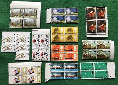 Job Lot/ Bundle Of Blocks Of Pre Decimal British Postage Stamps, Sheet, Mint
