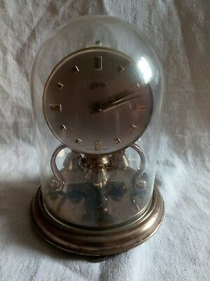 vintage schatz made in germany dome clock for spares or repairs