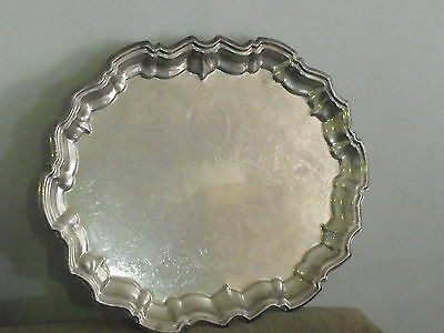 Antique FB Rogers Silver Co USA Silver plate footed Tray mark 5737 (EM)