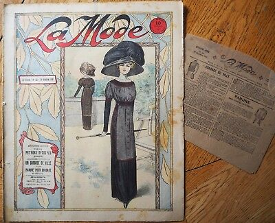La  Mode Pattern N°42 of 1910 French Fashion Magazine