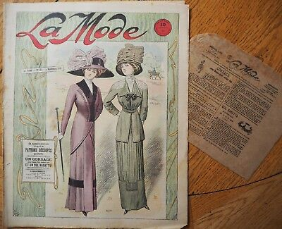 La  Mode Pattern N°36 of 1910 French Fashion Magazine