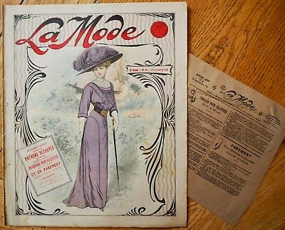 La  Mode Pattern N°39 of 1910 French Fashion Magazine