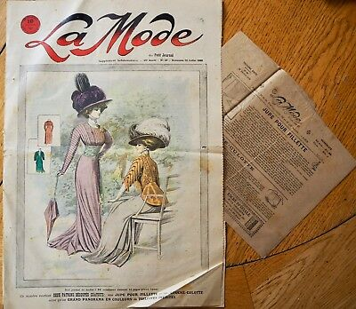 La  Mode Pattern N°29 of 1908 French Fashion Magazine