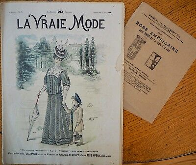 La Vraie Mode Pattern N°34 of 1906 French Fashion Magazine