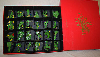 Danbury Mint John Deere Tractor 24 Piece Christmas Ornament Set in Original Box