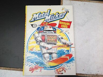 Vintage Original Metal Mickey Robot Tv Show Annual Book 1985 Children's Comedy