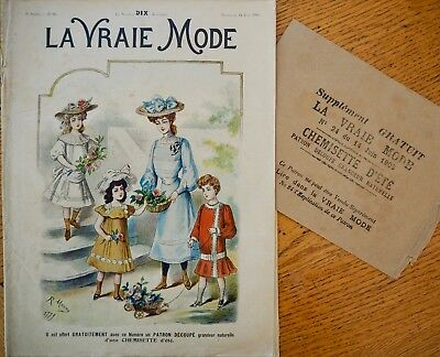 La Vraie Mode Pattern N°24 of 1903 French Fashion Magazine