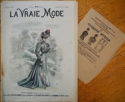La Vraie Mode Pattern N°13 of 1906 French Fashion Magazine
