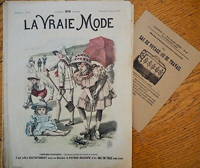 La Vraie Mode Pattern N°29 of 1907 French Fashion Magazine